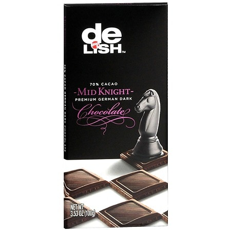 Good & Delish Premium German Dark Chocolate Bar Mid-Knight