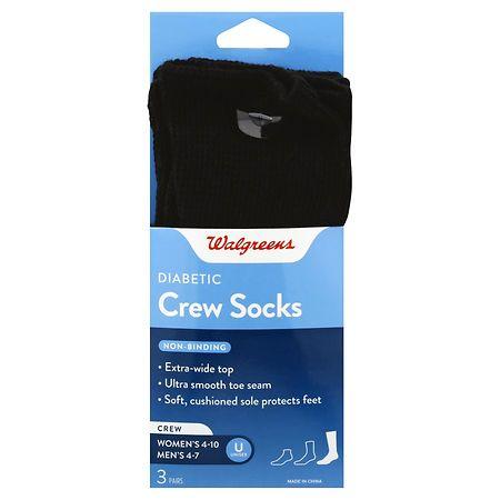 Walgreens Diabetic Crew Socks for Women 6-10 - 1 pr