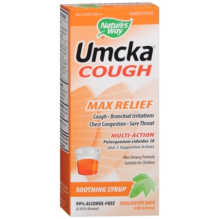 Nature's Way Umcka Soothing Syrup, Max Relief English Ivy Base - 4 oz.