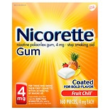 Nicorette Nicotine Gum to Stop Smoking Fruit Chill