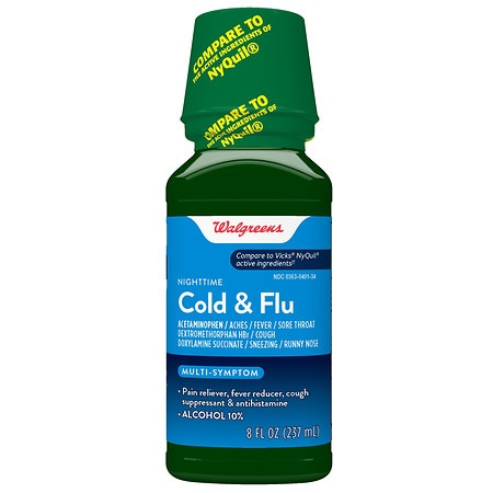 Walgreens Cold and Flu Relief Nighttime Original