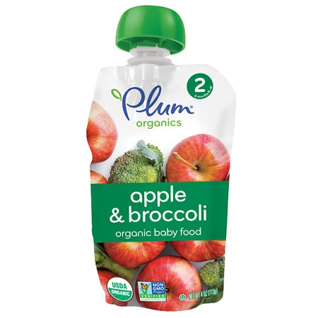 Plum Organics Baby Food Stage 2 Veggie & Fruit Broccoli & Apple