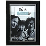 Home Elements Picture Frame 5 inch x 7 inch Black/ Silver