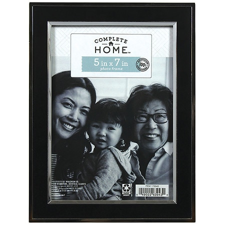 Home Elements Picture Frame 5 inch x 7 inch Black/Silver