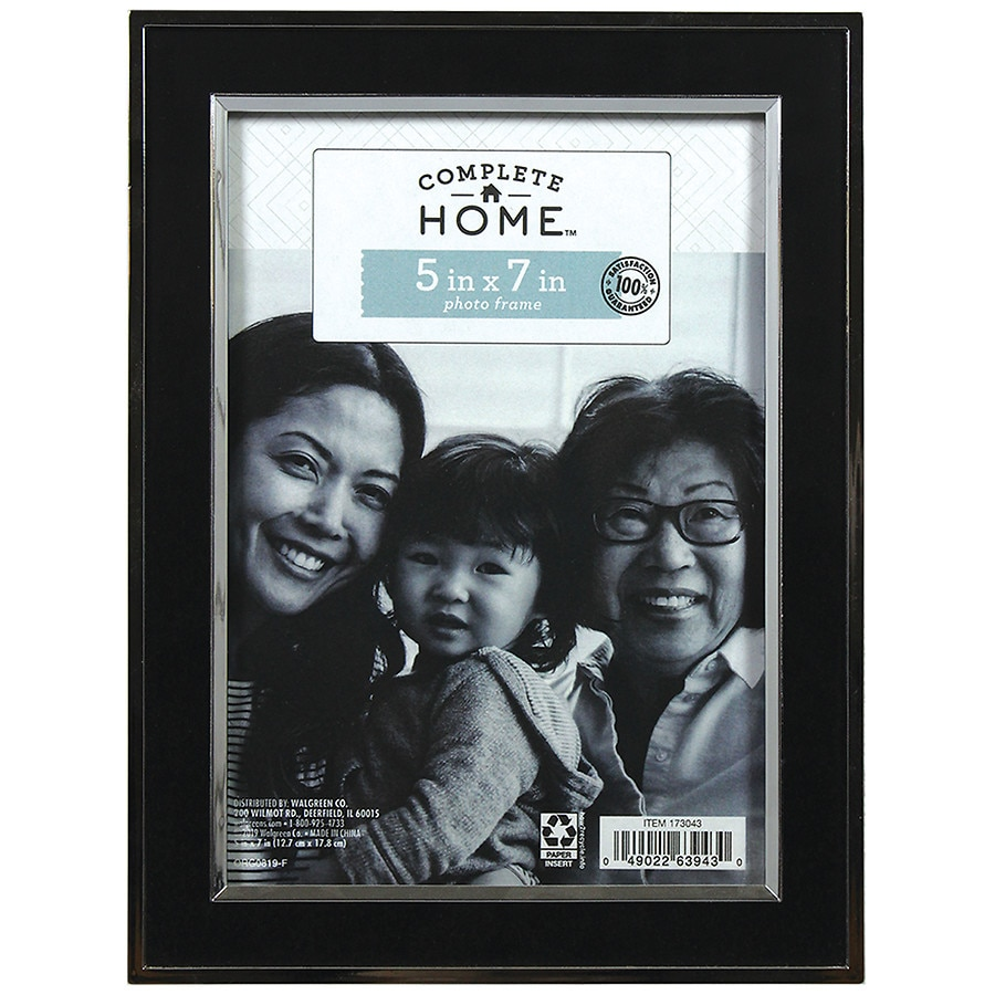 Home elements picture frame 5 inch x 7 inch blacksilver walgreens product large image jeuxipadfo Image collections