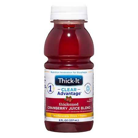 Thick-It AquaCareH20 Thickened Cranberry Juice Honey Consistency - 8 oz. x 24 pack