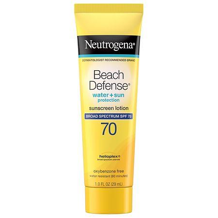 Neutrogena Beach Defense Body Sunscreen Lotion With SPF 70 - 1 fl oz