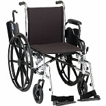 Nova Wheelchair Lightweight Bariatric Flip-Back Desk Arms Swingaway Footrests