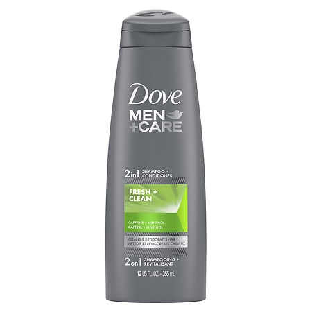Dove Men+care 2 In 1 Shampoo And Conditioner Fresh And Clean 12 Oz.