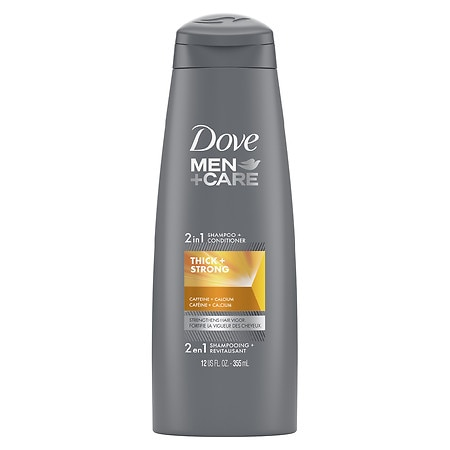 Image of Dove Men+Care 2 in 1 Shampoo and Conditioner Thick and Strong - 12 oz.