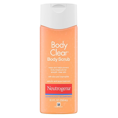 Neutrogena Body Clear Body Scrub, Salicylic Acid Acne Treatment - 8.5 oz.