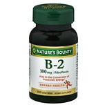 Nature's Bounty Vitamin B-2 100 mg Supplement Tablets