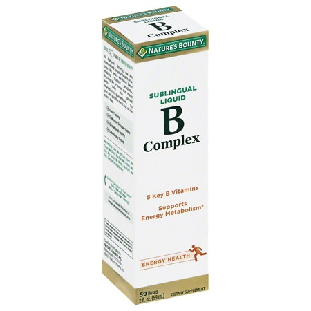 Nature's Bounty B Complex Sublingual Liquid Dietary Supplement - 2 fl oz
