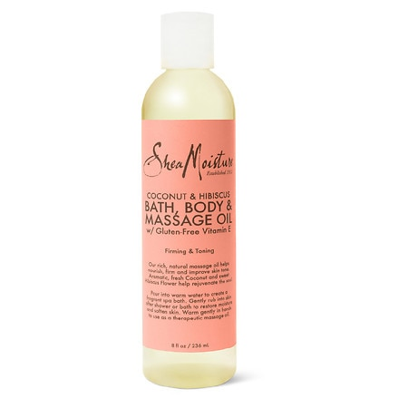 SheaMoisture Coconut & Hibiscus Bath, Body & Massage Oil - 8 oz.