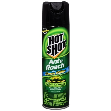 Hot Shot Ant & Roach Killer Plus Germ Killer Unscented - 17.5 oz.