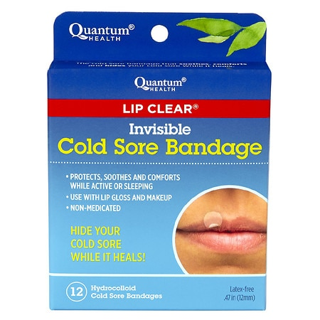 Quantum Health Invisible Cold Sore Bandage - 12 ea