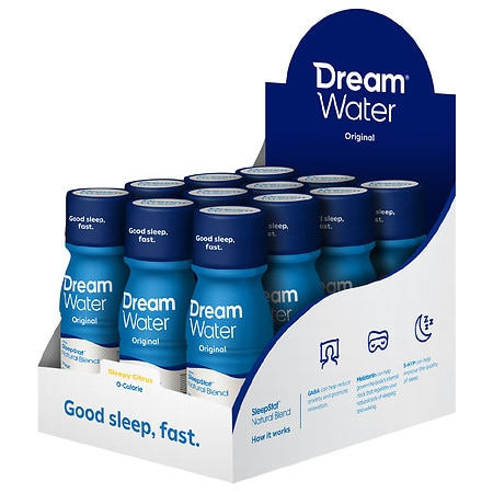 Dream Water Zero Calorie Sleep & Relaxation Shot nightTEA night, 12 pk