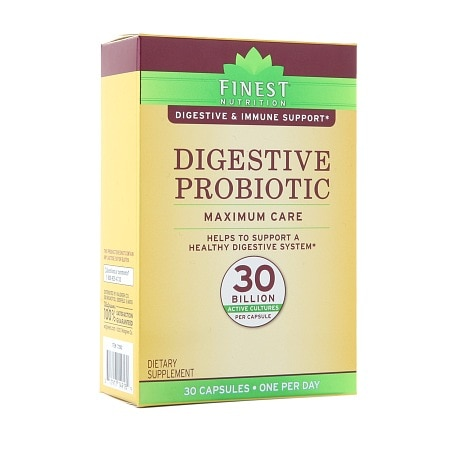 Finest Nutrition Digestive Probiotic Maximum Care Capsules - 30 ea
