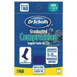 Dr. Scholl's Graduated Compression Support Socks for Men Navy