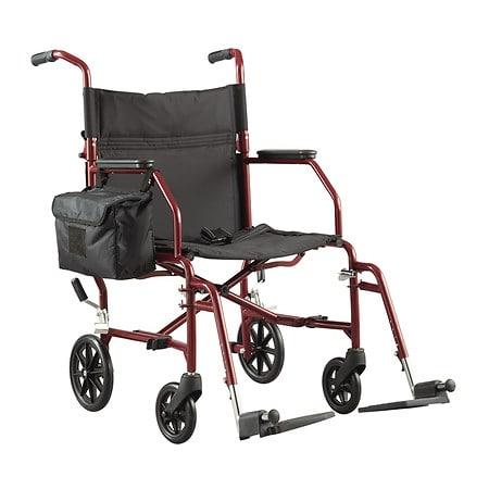 walgreens ultra-light weight transport chair burgundy | walgreens