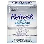 Refresh Optive Advanced Lubricant Eye Drops Single Use Containers