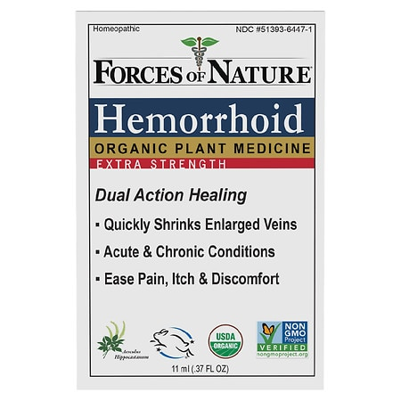 Forces of Nature Hemorrhoid Control Extra Strength - 0.37 fl oz
