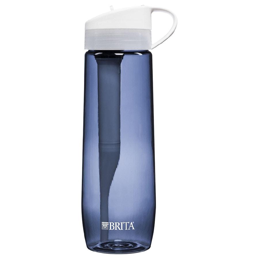 brita hard sided water filter bottle gray 23 7 oz walgreens. Black Bedroom Furniture Sets. Home Design Ideas