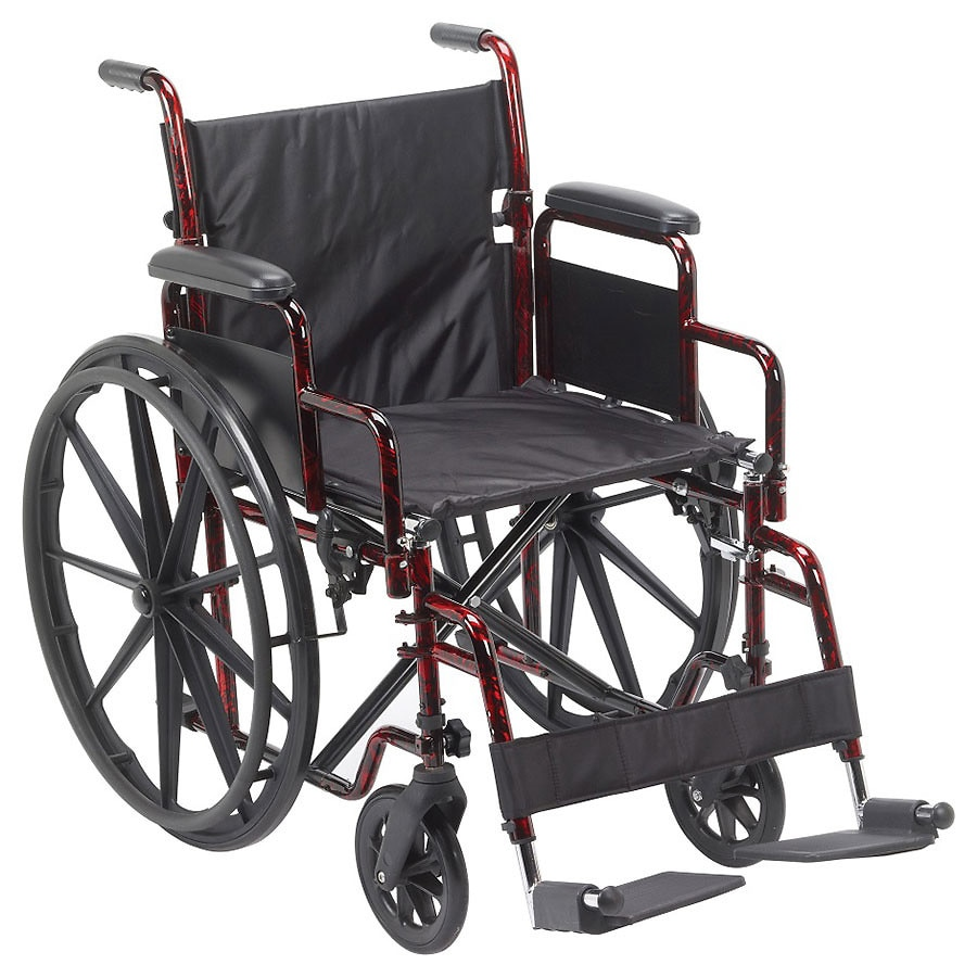 drive medical rebel lightweight wheelchair 18 inch red walgreens. Black Bedroom Furniture Sets. Home Design Ideas