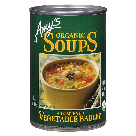 Amy's Organic Soup, Low Fat Vegetable Barley - 14.1 oz.