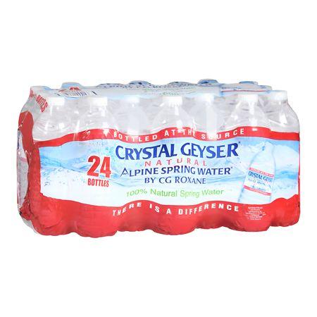 Crystal Geyser Natural Alpine Spring Water - 16.9 oz. x 24 pack