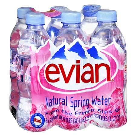 0216c3d5c0 Evian Natural Spring Water16.9 oz x 6 pack