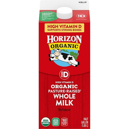 Horizon Organic Whole Milk Half Gallon