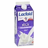 Lactaid Fat Free Milk 1/ 2 Gallon Carton
