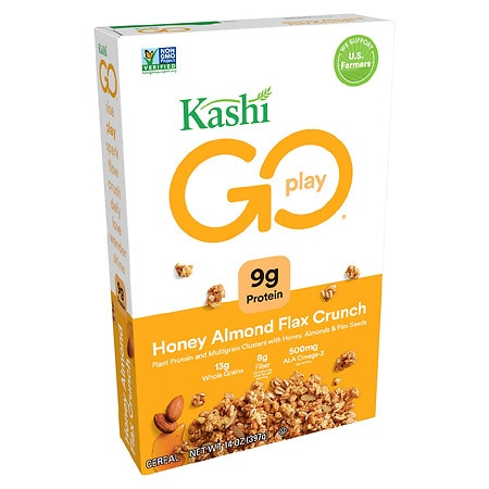 Kashi GoLean Crunch! Multigrain Cluster Cereal Honey Almond Flax - 14.0 oz.