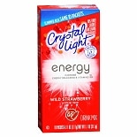 Crystal Light Energy Drink Mix Powder Strawberry