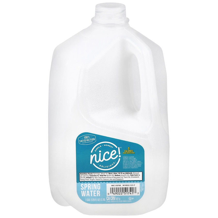 Nice Spring Water 1 Gallon Bottle Walgreens