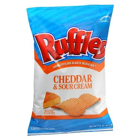 Ruffles Flavored Potato Chips Cheddar Amp Sour Cream Walgreens