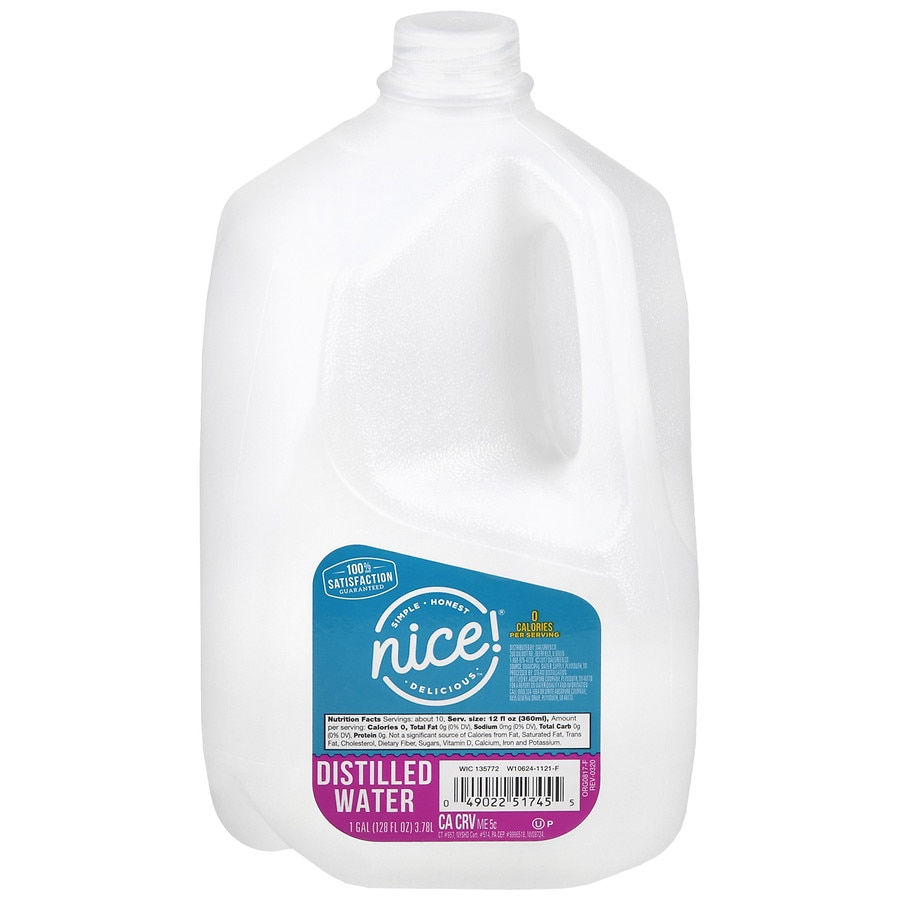 Nice! Distilled Water 1 Gallon Bottle