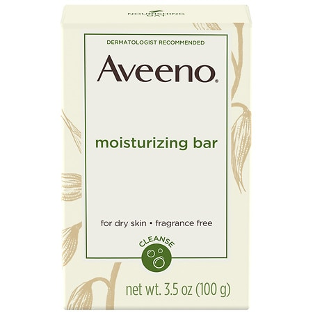 Aveeno Gentle Moisturizing Bar Facial Cleanser For Dry Skin - 3.5 oz.