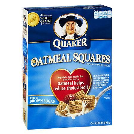 Quaker Oatmeal Squares Crunchy Oatmeal