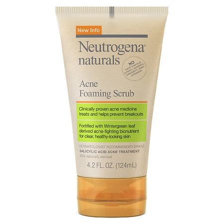Neutrogena Naturals Acne Foaming Scrub - 4.2 fl oz