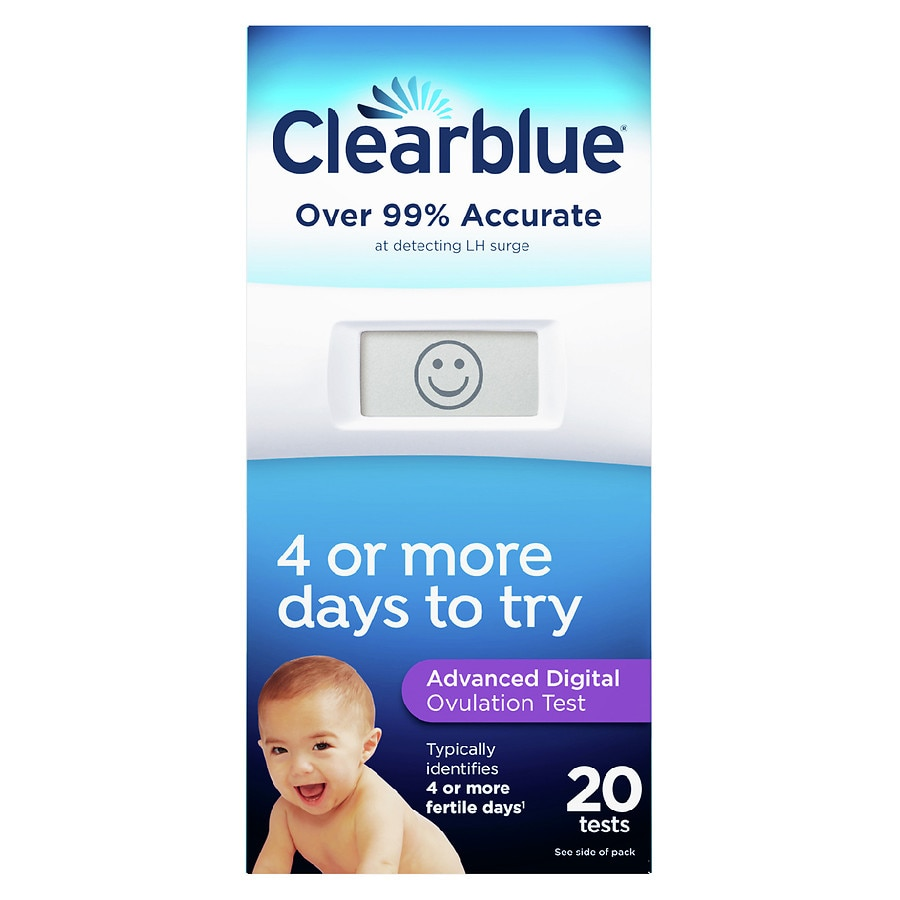The Clearblue ® Advanced Digital Ovulation Test typically identifies 4 or more fertile days leading up to, and including the day of ovulation, at least twice as many as any other ovulation test. The Clearblue Advanced Digital Ovulation Test is a breakthrough: it is the only ovulation test that not only detects the rise in luteinising hormone.