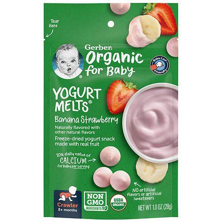 Gerber Organic Yogurt Melts, Freeze-Dried Yogurt Snacks