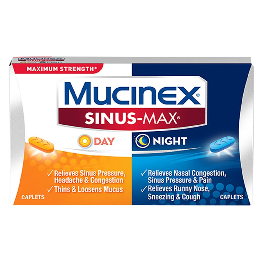 Mucinex Sinus Max Day And Night Caplets Walgreens