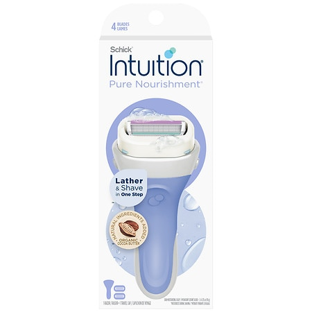 Schick Intuition Pure Nourishment with Coconut Milk & Almond Oil Razor