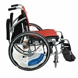 Karman 16in Seat Ergonomic Transport Wheelchair Orange
