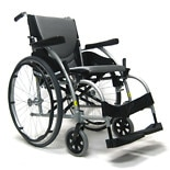 Karman 18in Seat Ergonomic Wheelchair Silver