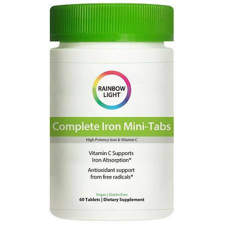 Rainbow Light Complete Iron Mini Tabs Food Based Formula