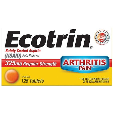 Ecotrin Regular Strength Safety Coated Aspirin Tablets - 125 ea