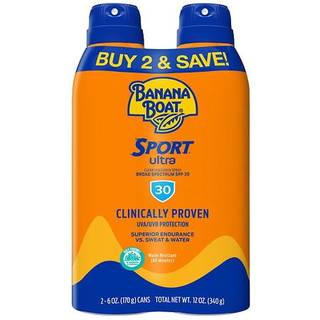 Banana Boat Sport Performance Continuous Spray Sunscreen, SPF 30 2 pk